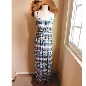 Quiksilver Collection Jersey Print Maxi Dress